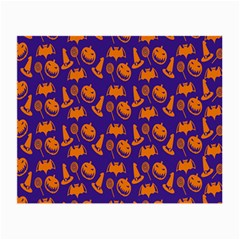 Witch Hat Pumpkin Candy Helloween Purple Orange Small Glasses Cloth