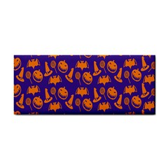 Witch Hat Pumpkin Candy Helloween Purple Orange Cosmetic Storage Cases by Alisyart