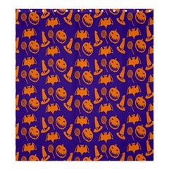Witch Hat Pumpkin Candy Helloween Purple Orange Shower Curtain 66  X 72  (large)  by Alisyart
