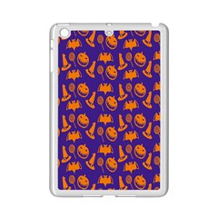 Witch Hat Pumpkin Candy Helloween Purple Orange Ipad Mini 2 Enamel Coated Cases