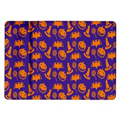 Witch Hat Pumpkin Candy Helloween Purple Orange Samsung Galaxy Tab 10 1  P7500 Flip Case
