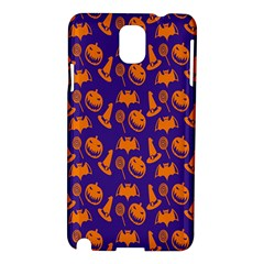 Witch Hat Pumpkin Candy Helloween Purple Orange Samsung Galaxy Note 3 N9005 Hardshell Case