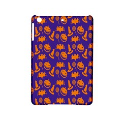 Witch Hat Pumpkin Candy Helloween Purple Orange Ipad Mini 2 Hardshell Cases