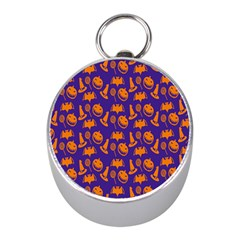 Witch Hat Pumpkin Candy Helloween Purple Orange Mini Silver Compasses by Alisyart