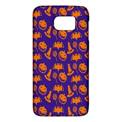 Witch Hat Pumpkin Candy Helloween Purple Orange Galaxy S6 by Alisyart