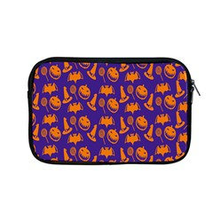 Witch Hat Pumpkin Candy Helloween Purple Orange Apple Macbook Pro 13  Zipper Case