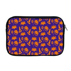Witch Hat Pumpkin Candy Helloween Purple Orange Apple Macbook Pro 17  Zipper Case