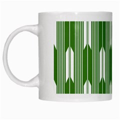 Arrows Green White Mugs