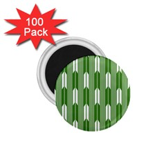 Arrows Green 1 75  Magnets (100 Pack)