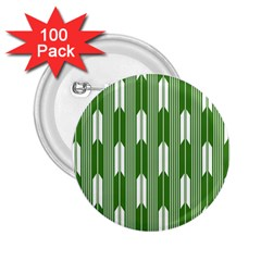 Arrows Green 2 25  Buttons (100 Pack)