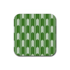 Arrows Green Rubber Coaster (square)