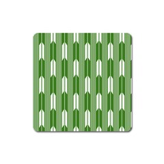 Arrows Green Square Magnet