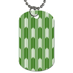 Arrows Green Dog Tag (two Sides) by Alisyart