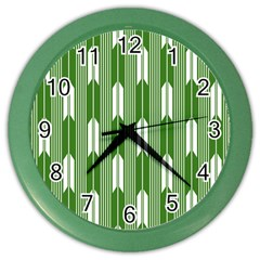 Arrows Green Color Wall Clocks by Alisyart