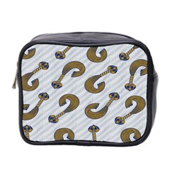 African Fabric Hair Wave Chevron Mini Toiletries Bag 2 Side