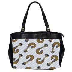 African Fabric Hair Wave Chevron Office Handbags (2 Sides)