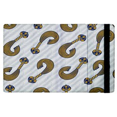 African Fabric Hair Wave Chevron Apple Ipad 3/4 Flip Case by Alisyart