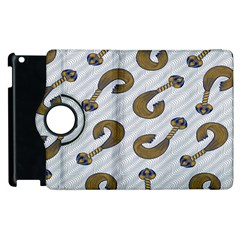 African Fabric Hair Wave Chevron Apple Ipad 2 Flip 360 Case by Alisyart