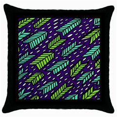 Arrows Purple Green Blue Throw Pillow Case (black) by Alisyart