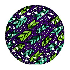 Arrows Purple Green Blue Ornament (round Filigree)