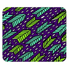Arrows Purple Green Blue Double Sided Flano Blanket (small)