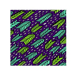 Arrows Purple Green Blue Small Satin Scarf (square)