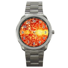 Board Conductors Circuit Sport Metal Watch by Amaryn4rt