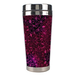 Retro Flower Pattern Design Batik Stainless Steel Travel Tumblers by Amaryn4rt