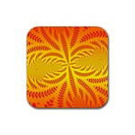 Background Brush Particles Wave Rubber Coaster (Square)  Front