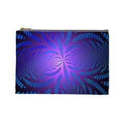 Background Brush Particles Wave Cosmetic Bag (large)  by Amaryn4rt