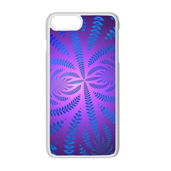 Background Brush Particles Wave Apple Iphone 7 Plus White Seamless Case by Amaryn4rt