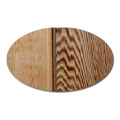 Wood Grain Texture Brown Oval Magnet by Amaryn4rt