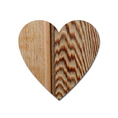 Wood Grain Texture Brown Heart Magnet by Amaryn4rt