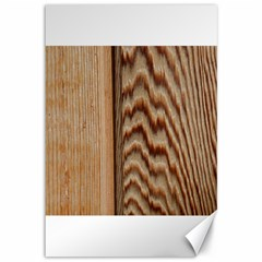 Wood Grain Texture Brown Canvas 12  X 18
