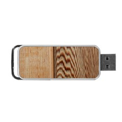 Wood Grain Texture Brown Portable Usb Flash (two Sides) by Amaryn4rt