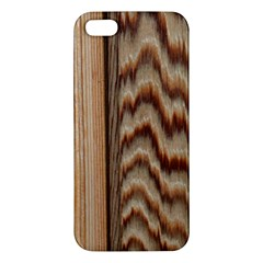 Wood Grain Texture Brown Apple Iphone 5 Premium Hardshell Case