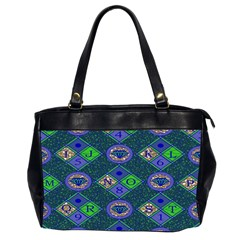 African Fabric Number Alphabeth Diamond Office Handbags (2 Sides)  by Alisyart