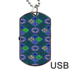 African Fabric Number Alphabeth Diamond Dog Tag Usb Flash (one Side)