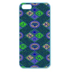 African Fabric Number Alphabeth Diamond Apple Seamless Iphone 5 Case (color)