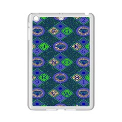 African Fabric Number Alphabeth Diamond Ipad Mini 2 Enamel Coated Cases