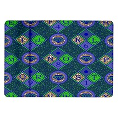 African Fabric Number Alphabeth Diamond Samsung Galaxy Tab 10 1  P7500 Flip Case