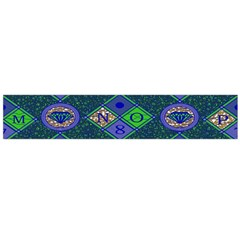 African Fabric Number Alphabeth Diamond Flano Scarf (large)