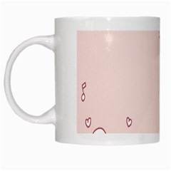 Bird City Sing Pink Notes Music White Mugs