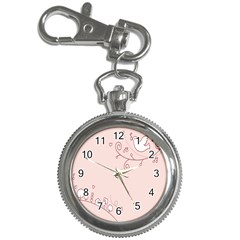 Bird City Sing Pink Notes Music Key Chain Watches
