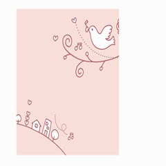 Bird City Sing Pink Notes Music Large Garden Flag (two Sides)
