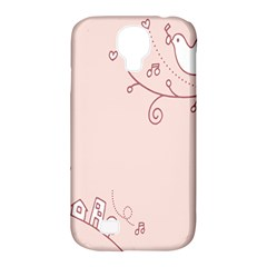 Bird City Sing Pink Notes Music Samsung Galaxy S4 Classic Hardshell Case (pc+silicone)