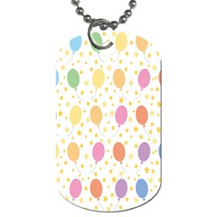Balloon Star Color Orange Pink Red Yelllow Blue Dog Tag (two Sides)