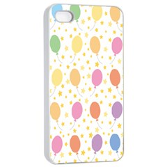 Balloon Star Color Orange Pink Red Yelllow Blue Apple Iphone 4/4s Seamless Case (white) by Alisyart