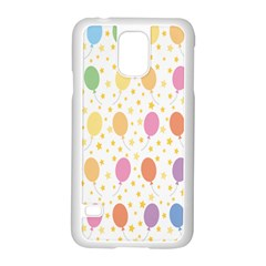 Balloon Star Color Orange Pink Red Yelllow Blue Samsung Galaxy S5 Case (white)