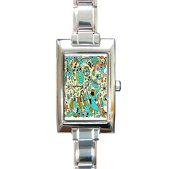Animals Caterpillar Worm Owl Snake Leaf Flower Floral Rectangle Italian Charm Watch